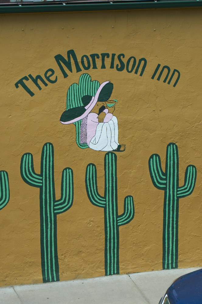 Photo of the Morrison Inn sign.